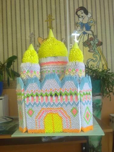 Модульное оригами с пошаговым фото церкви
